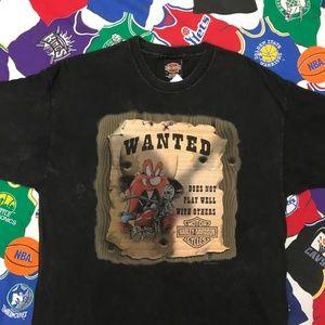 Early 2000s Harley Davidson Looney Tunes Shirt